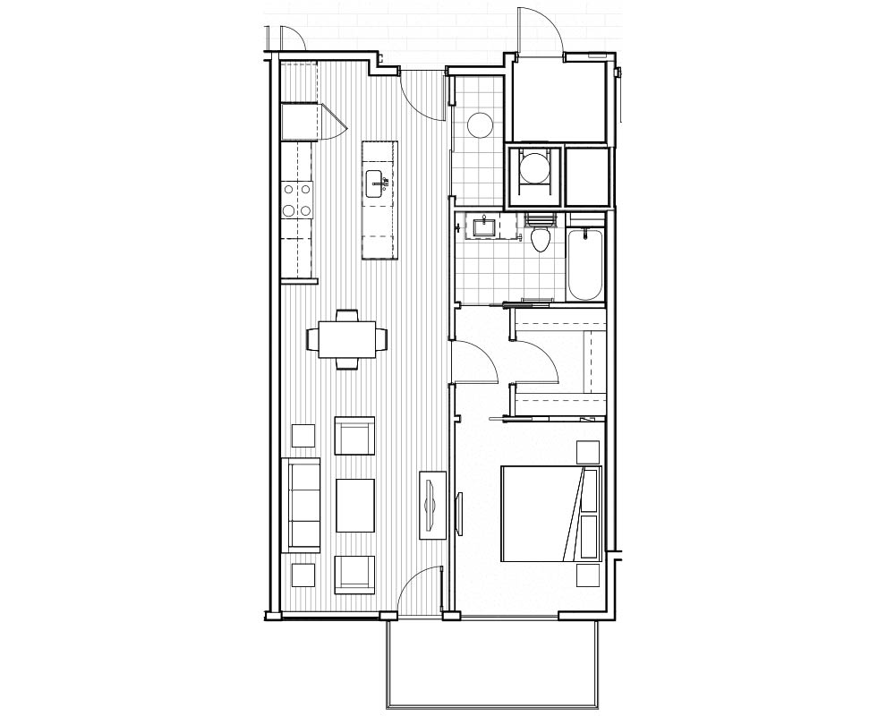Woodside Village Type 1D - 2D High End Apartment Floorplan image